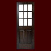 オーセンティックな2パネル付き格子ガラスのリビングドア