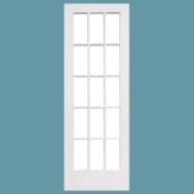 全面格子ガラスの解放感のあるリビングドア