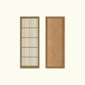 格子や網代を盛り込んだオリジナル框組ドア