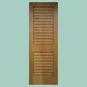 2パネルのルーバーを持つ風通しの良いルーバードア