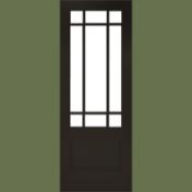 カットガラスが美しい無垢材のリビングドア